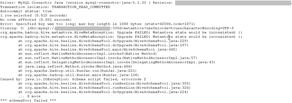 mysql-1000-bytes-error